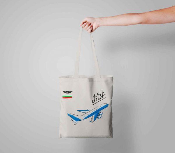 Бяла еко чанта Fly bag 1