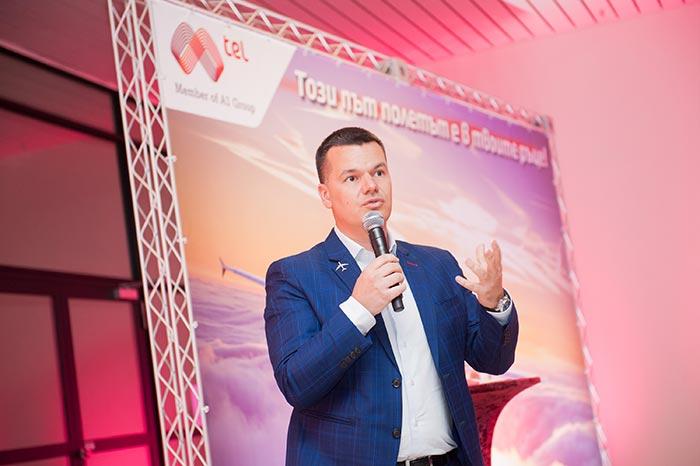 мотивационна реч с пилота Марио Бакалов пред екипа на А1