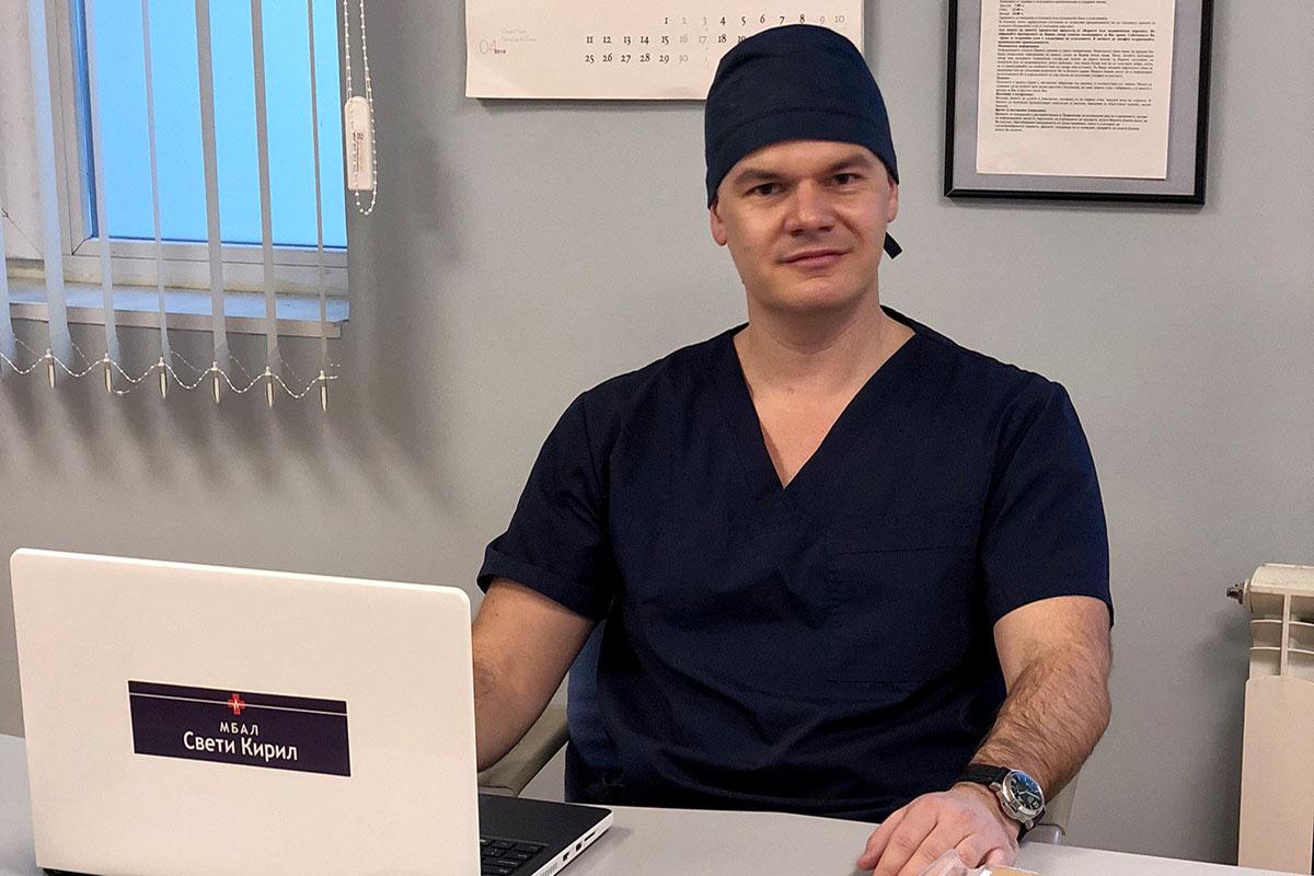 пилотът Марио Бакалов като медицинско лице