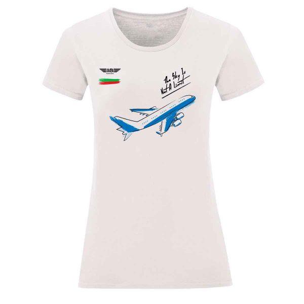 Дамска тениска бяла Flight mode