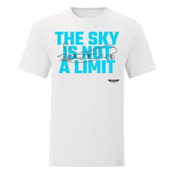 Мъжка тениска бяла Sky lover