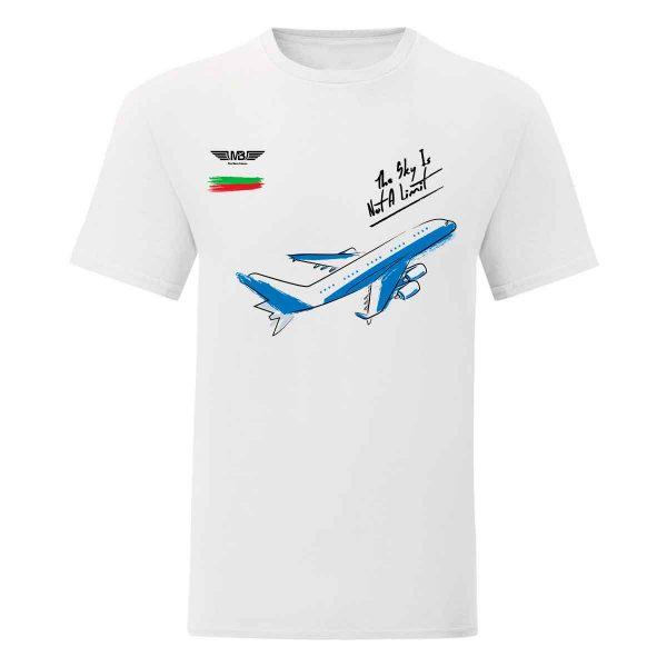 Мъжка тениска бяла Flight mode