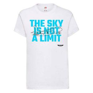 Детска тениска бяла Flying kid 2