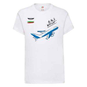 Детска тениска бяла Flying kid 1