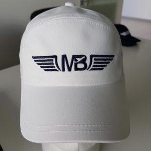 Пилотска шапка Aviator бяла - поглед отпред