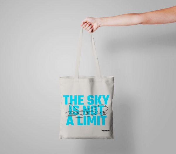 Бяла еко чанта Fly bag 2