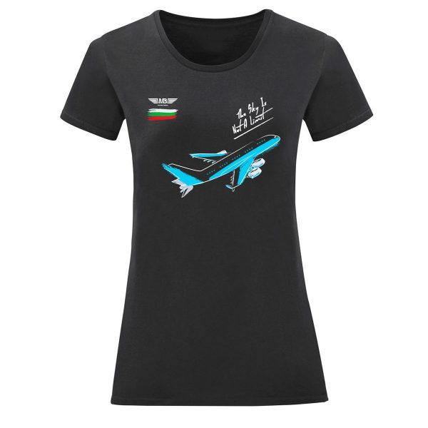 Дамска тениска тъмносиня Flight mode