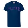 Детска тениска тъмносиня Flying