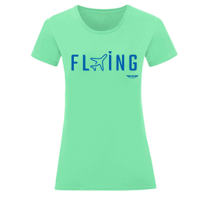 Дамска тениска цвят мента Flying
