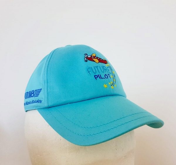 Детска пилотска шапка Future pilot светлосиня
