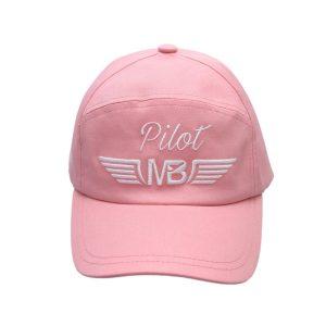 Пилотска шапка Pilot розова - поглед отпред