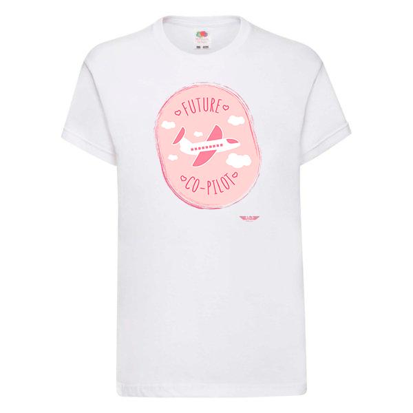 детска тениска за момичета бяла