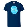 Детска тениска за момчета тъмносиня