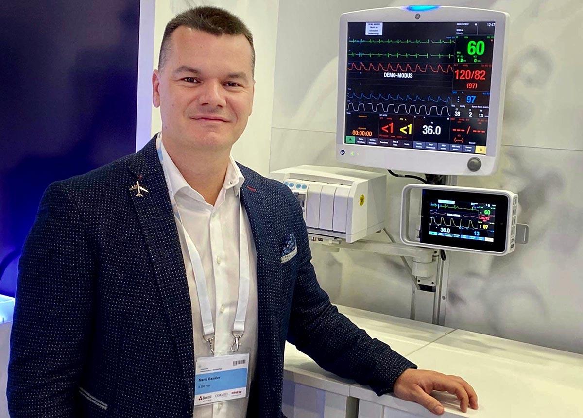 Марио Бакалов с меки умения за медици