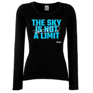 Дамска тениска с дълъг ръкав черна Sky Lover
