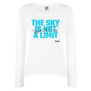 Дамска тениска с дълъг ръкав бяла Sky Lover