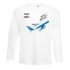 Мъжка тениска с дълъг ръкав бяла Flight mode