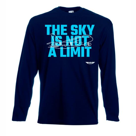 Мъжка тениска с дълъг ръкав тъмносиня Sky lover